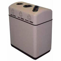 Witt Industries 11RR-361631 36 gal. Fiberglass 3-Opening recycling container