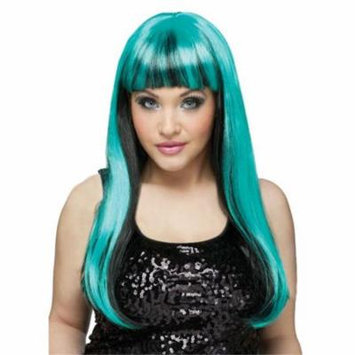 Costumes For All Occasions FW92421NBT Wig Natural N Neon Black-Teal