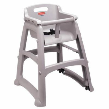 RUBBERMAID Youth High Chair, Platinum, Include Wheels FG780508PLAT