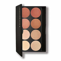 Gorgeous Cosmetics Blush and Highlight Palette, 8 shades, Compact with Mirror