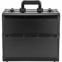 Sunrise C3029 Professional Makeup Cosmetic Train Large Case Organizer Storage With 6 Trays Dividers