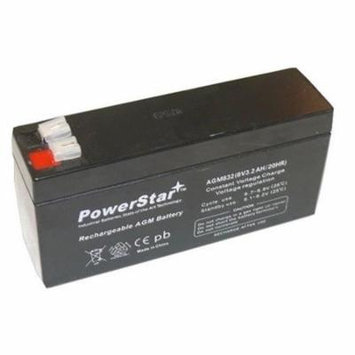 PowerStar PS-832-177 8V 3.2Ah Replacement Battery for Unipower B00920, Unipower B10430, Unipower B10798, Unipower B11052, Unipower B11142 & Universal UB830