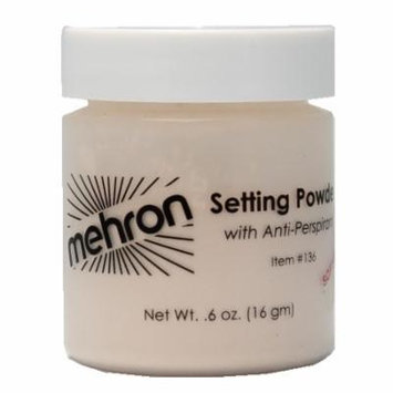 (6 Pack) mehron UltraFine Setting Powder with Anti-Perspriant - Soft Beige