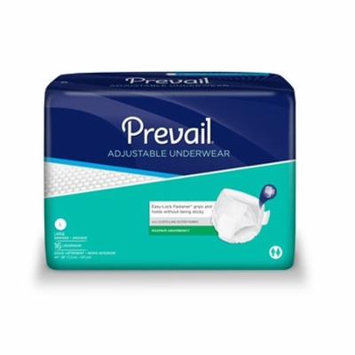 Prevail Super Plus Adjustable Underwear, LARGE, Heavy Absorbency, PVR-513 - Pack of 16