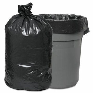 Boardwalk Waste Trash Bags, 60gal, 38 x 58, .95mil, Gray, 25 Bags/Roll, 4 Rolls/CT