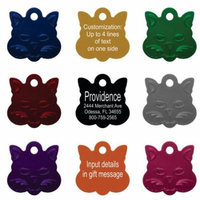 Pet ID Tags - Up to 8 Lines of Custom Engraving - Small Cat - PINK