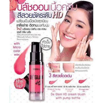 Mistine De Glam cream blush blush on blusher pimp bottle long lasting /shade01 pink-color of the day