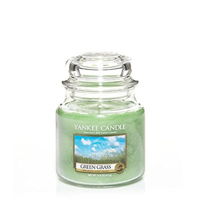 Yankee Candle Green Grass Medium Jar Candle, Fresh Scent []