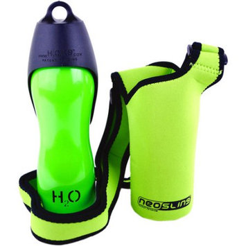 H2O4K9 Stainless Steel K9 Water Bottle 25oz & Carrier-Green