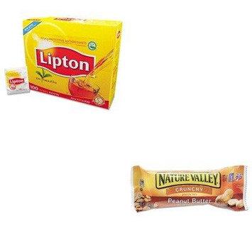 KITAVTSN3355LIP291 - Value Kit - General Mills Nature Valley Granola Bars (AVTSN3355) and Lipton Tea Bags (LIP291)