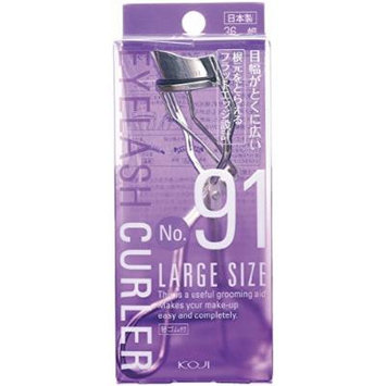 F130 Made in Japan Koji 36mm Eyelash Curler With One Refill Pad -No. 91 Large