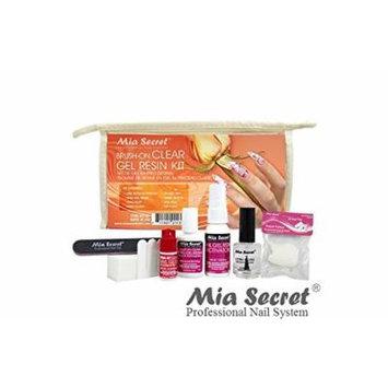 Mia Secret Brush ON Clear Gel Resin 8 PCS. Professional Kit