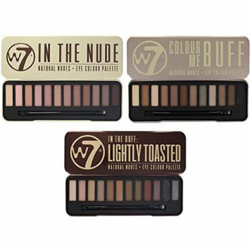 W7 Colour Me Buff, In The Nude And In The Buff Lightly Toasted Eye Shadow Palettes