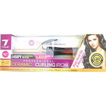 Tyche Professional Ceramic Curling Iron 5/8 inch