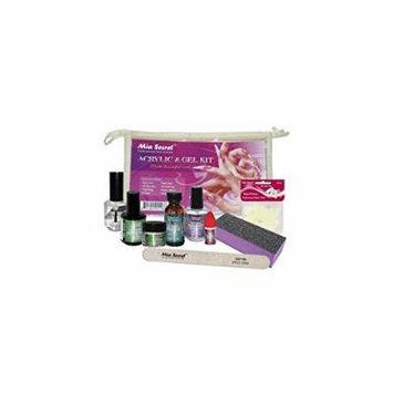 Mia Secret Brush On Clear Acrylic & Gel 9 pcs.Professional Kit