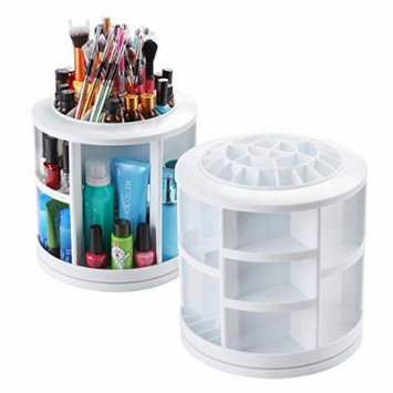 Makartt 360 Degree Rotating Makeup Organizer Large Round Revolving Carousel Cosmetic Storage Holder
