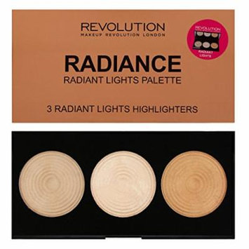 Makeup Revolution - Highlighter Palette - Radiance - 3 Baked Highlighters Illuminators by Makeup Revolution