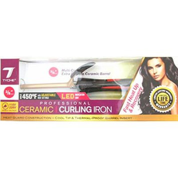 Tyche Professional Ceramic Curling Iron 3/8 inch