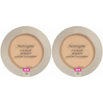 Neutrogena Cosmetics Mineral Sheers Compact Powder Foundation - Buff 30 - 2 pk
