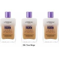 L'oreal Paris Magic Nude Liquid Powder, 326 True Beige, 0.91 Ounces - (Pack of 3)