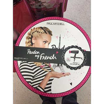 Travel Set Bundle: Paul Mitchell Pardon My French Express Ion Tool Gift Set Hair Dryer, Flat Iron