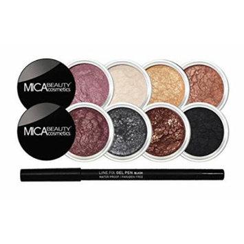 Mica Beauty Mineral Eye Shadows Makeup Bundle: