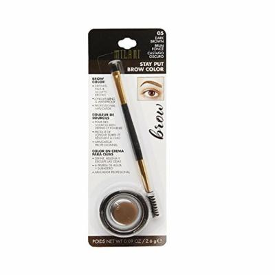Milani Stay Put Brow Color, 05 Dark Brown (Pack of 2)