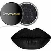 Long Lasting Black Liquid Lipstain & Black Glitter (Matte Liquid Lips & Glitter Set)