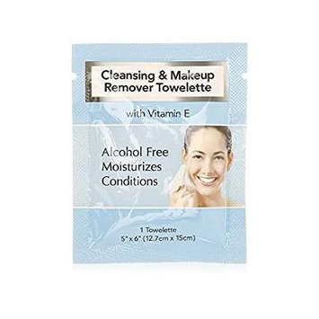 Cleansing and Makeup Remover Wipes with Vitamin E, 45 Pack (in Organza Bag)