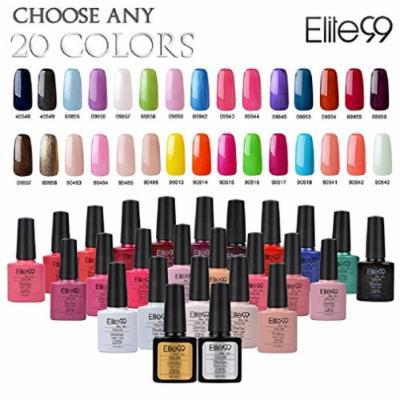 Elite99 (Any 20 Colors) Soak Off Gel Nail Polish UV LED Color Nail Art 5PCS Gift Set