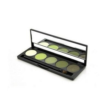 Jolie Micro Fine Mineral 5 Shade Eyeshadow Compact W/ Brush - Rain Forest