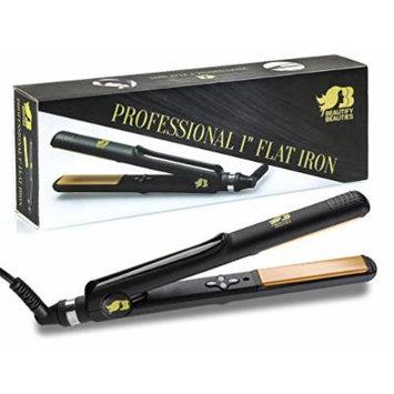 Beautify Beauties Professional 1 Inch Flat Iron, Ceramic Tourmaline Hair Straightener