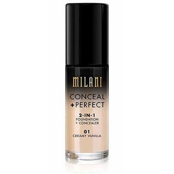 MILANI Conceal + Perfect 2-In-1 Foundation + Concealer – Creamy Vanilla