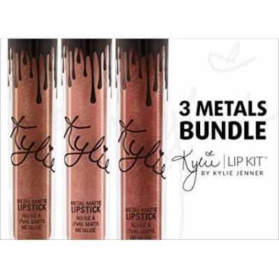 Kylie Lip Kit by Kylie Jenner 3 Metals Bundle: King K, Reign & Heir