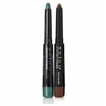 Skinn Cosmetics Smudge Stick for Eyes - Set of 2 Waterproof Eye Pencils - Chocolate & Emerald