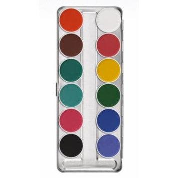 Kryolan 1104 Aquacolor Makeup Palette 12 Colors - FP2 (Brand New Colors)