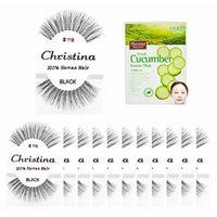 12 packs #118 Christina 100% Human Hair Fake Eyelashes