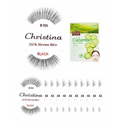 12packs Eyelashes - #205 Christina 100% Human Hair Fake Eyelashes