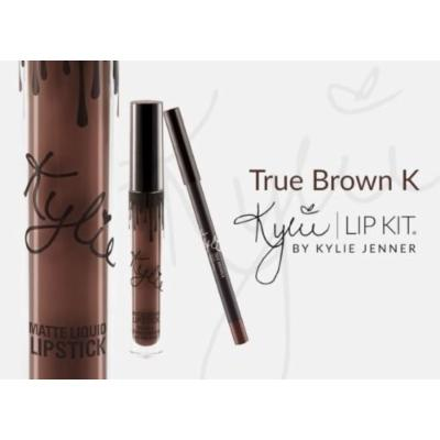 TRUE BROWN K lip Kit By Kylie Jenner SOLD OUT SHIPS TODAY Lipstick & Lip Liner