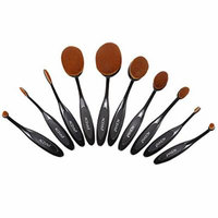 ACEVIVI Makeup Brushes - 10 PIECE Premium Makeup Brush Kit Handle Synthetic Kabuki Foundation Cosmetic Brushes for Powder Liquid Cream
