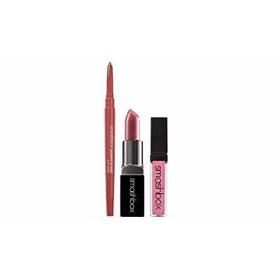 Smashbox Lip Must-Haves Set: Pout Be Legendery Lip Gloss + Rosebud Always Sharp Lip Liner + Primrose Be Legendery Lipstick