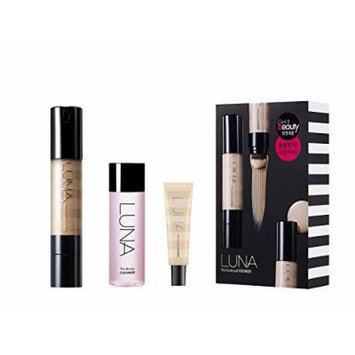 3 Pieces, Luna Pro-Conceal Founde (#23 Medium Beige) + Pro-Brush Cleanser + Pro-Conceal Founde 20ml.