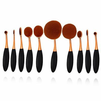 Face Brush Makeup Brush Set Premium Synthetic Professional Face EyeShadow Eyeliner Foundation Blush 10 Pcs Makeup Brushes powder Liquid Cream Cosmetics Blending Brush Tool(10pcsA)