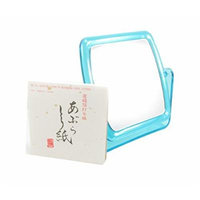 Double-Sided Square Make-up Mirror Swivel Teal 5.25