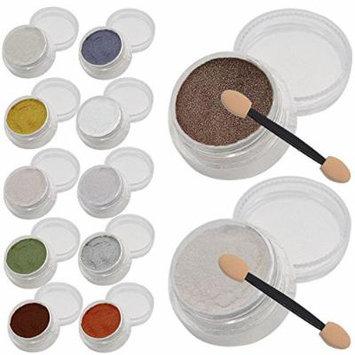 12 Pcs 1g Nail Art Mirror Glitter Shinning Nail Chrome Pigment Powder Nail Art Tools with Sponge Stick