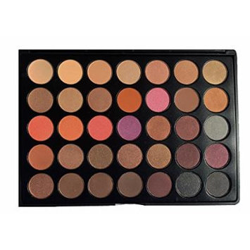 The Beauty Box Artist Eyeshadow Palette   35 Color Blendable Pigmented Nude Warm Eyeshadow   Matte and Shimmer Makeup for Every Skin Tone   High Quality Cosmetics   Espresso Collection