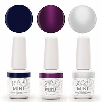 Gelish Mini 3 Bottle Soak Off Solid and Shimmer Gel Nail Polish Collection, 9 mL
