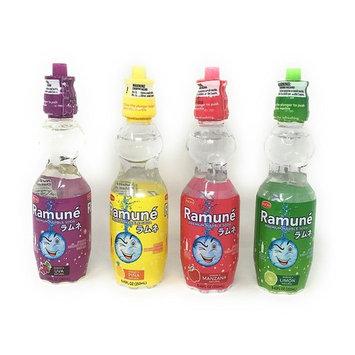 Ramune Japanese Marble Style Soda (Four Flavor Bundle, Four Bottles)