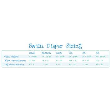 My Swim Baby Swim Diaper, Hopping Holly, 3X
