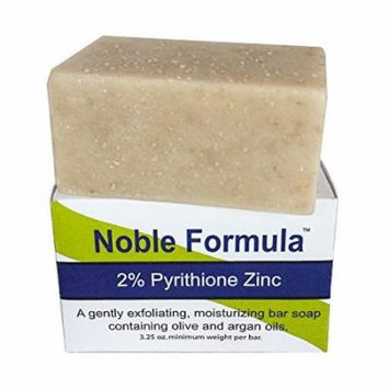 Noble Formula 2% Pyrithione Zinc (ZnP) Bar Soap with Argan Oil 3.25 oz - Hand Crafted in the USA, Especially Formulated for Those with Psoriasis, Eczema, Dry and Sensitive Skin